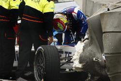 Crash, Robin Frijns, Amlin Andretti Formula E Team