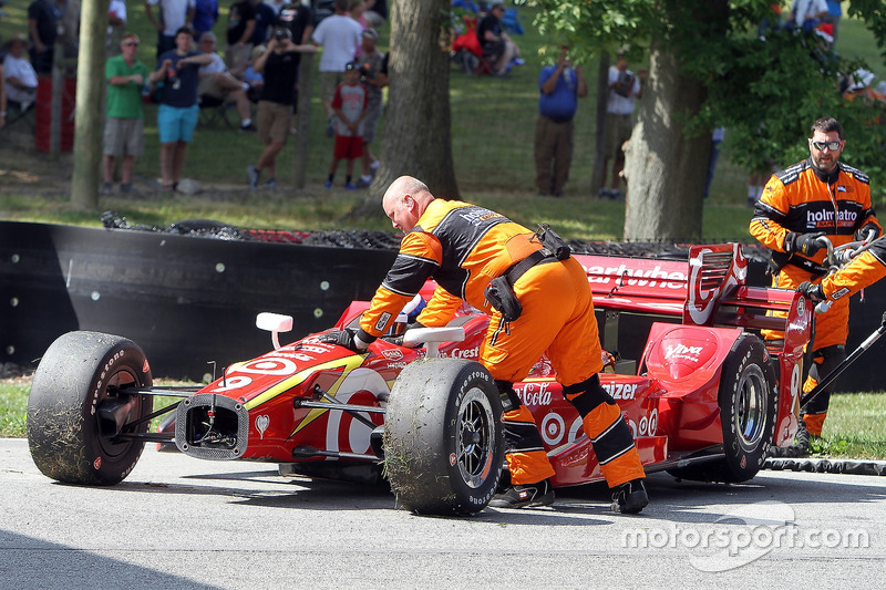 Scott Dixon, Chip Ganassi Racing Chevrolet spins during warmup