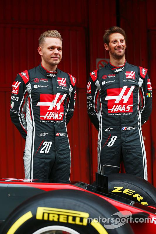 Romain Grosjean, Haas F1 Team; Kevin Magnussen, Haas F1 Team