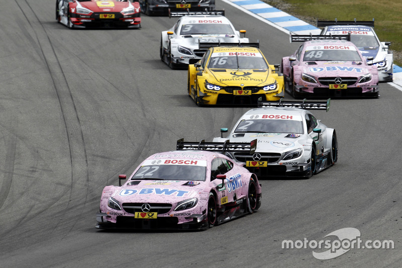 Lucas Auer, Mercedes-AMG Team HWA, Mercedes-AMG C63 DTM leads