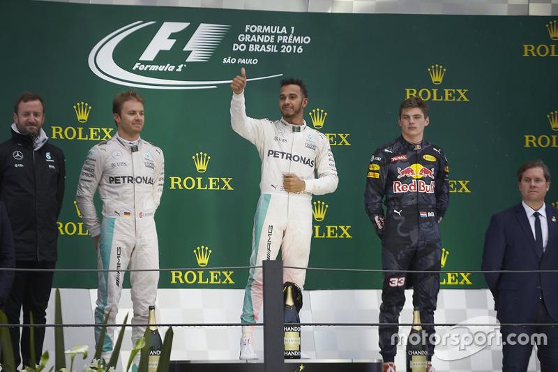 Podium: 1. Lewis Hamilton, Mercedes AMG F1; 2. Nico Rosberg, Mercedes AMG F1; 3. Max Verstappen, Red Bull Racing