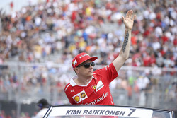 Kimi Raikkonen, Ferrari, in the drivers parade