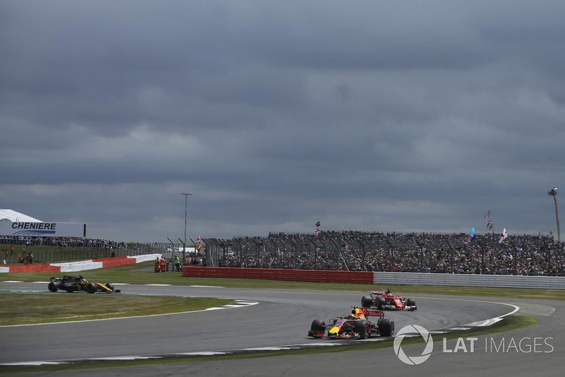 Макс Ферстаппен, Red Bull Racing RB13, Себастьян Феттель, Ferrari SF70H, Ніко Хюлькенберг, Renault Sport F1 Team RS17