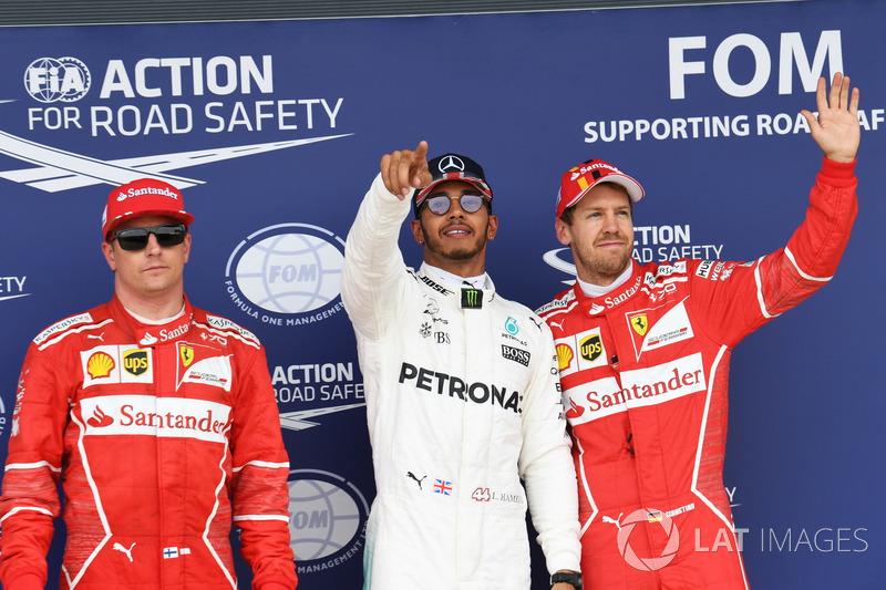 Кімі Райкконен, Ferrari, Льюіс Хемілтон, Mercedes AMG F1, Себастьян Феттель, Ferrari