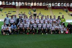 Players Group Photo at World Stars Football Match, Louis II Stadium