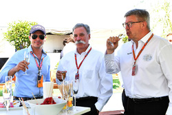 Alex Mea, e Chase Carey, Chief Executive Officer ed Executive Chairman del Formula One Group e Ross Brawn, Managing Director del Motorsport Formula One