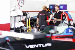 Maro Engel in the Venturi garage