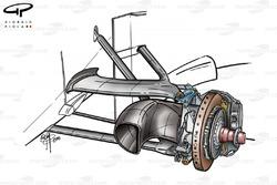 McLaren MP4-15 front brake duct (large)