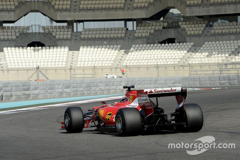 Kimi Raikkonen, Ferrari prueba los nuevos neumáticos Pirelli de 2017