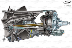 Red Bull RB5 2009 rear suspension detailed view
