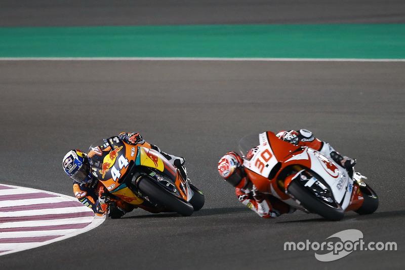 Miguel Oliveira, Red Bull KTM Ajo; Takaaki Nakagami, Idemitsu Honda Team Asia
