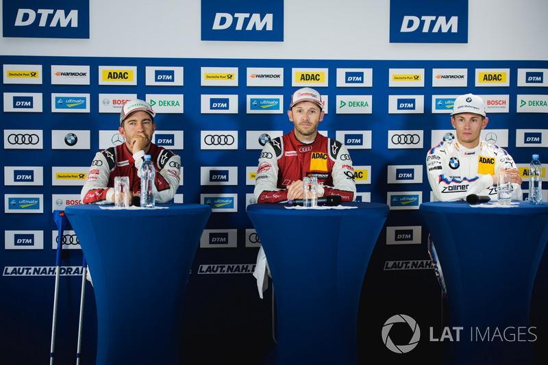 Прес-конференція: Майк роккенфеллерr, Audi Sport Team Phoenix, Audi RS 5 DTM, Рене Раст, Audi Sport Team Rosberg, Audi RS 5 DTM, Марко Віттман, BMW Team RMG, BMW M4 DTM