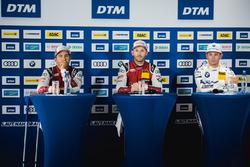 Conferencia de prensa: Mike Rockenfeller, Audi Sport Team Phoenix, Audi RS 5 DTM, René Rast, Audi Sport Team Rosberg, Audi RS 5 DTM, Marco Wittmann, BMW Team RMG, BMW M4 DTM