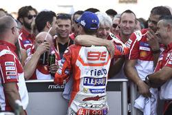 Third place Jorge Lorenzo, Ducati Team, Gigi Dall'Igna, Ducati Team General Manager