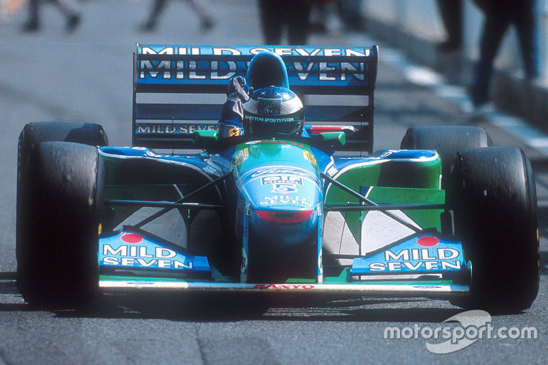 Ganador de la carrera Michael Schumacher, Benetton