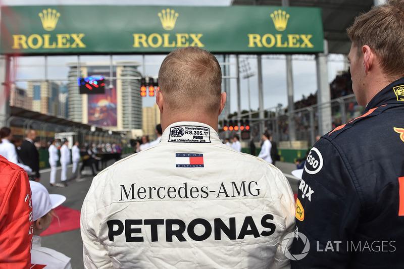 Valtteri Bottas, Mercedes-AMG F1 on the grid