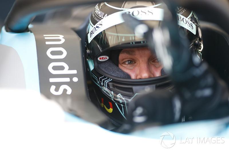 Nico Rosberg, Formula 1 World Champion, Formula E investor, drives the Formula E track car