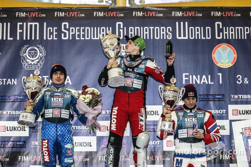 Россияне заняли весь подиум: Сергей Карачинцев стал вторым, а Даниил Иванов финишировал третьим. Хаарахилтунен на этот раз остался не у дел