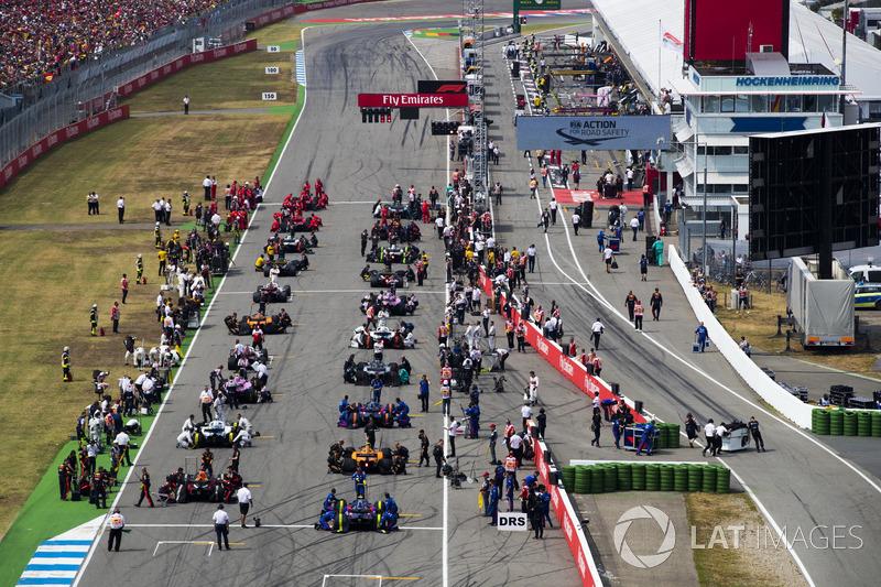Starting grid F1