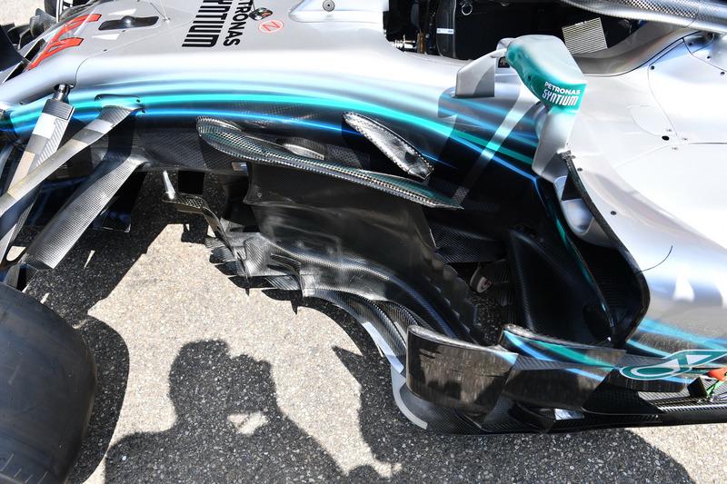 Mercedes-AMG F1 W09, bargeboard