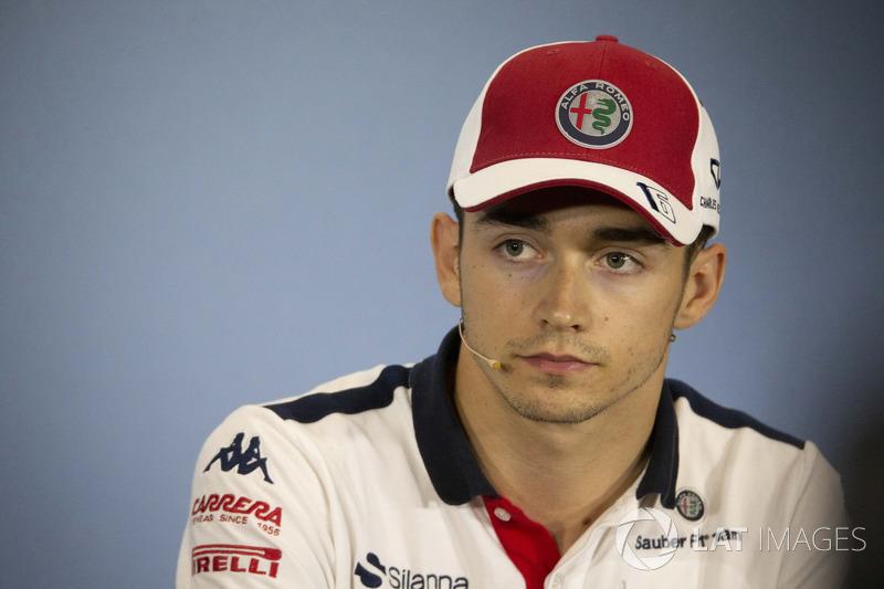 Charles Leclerc, Sauber en conférence de presse