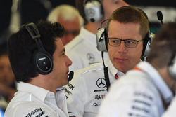 Toto Wolff, Mercedes AMG F1 Director of Motorsport and Andy Cowell, Managing Director, Mercedes AMG High Performance Powertrains