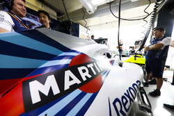 Martini logo on the car of Lance Stroll, Williams FW41 Mercedes