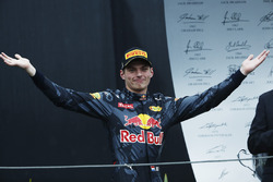 Podium: Third place Max Verstappen, Red Bull Racing