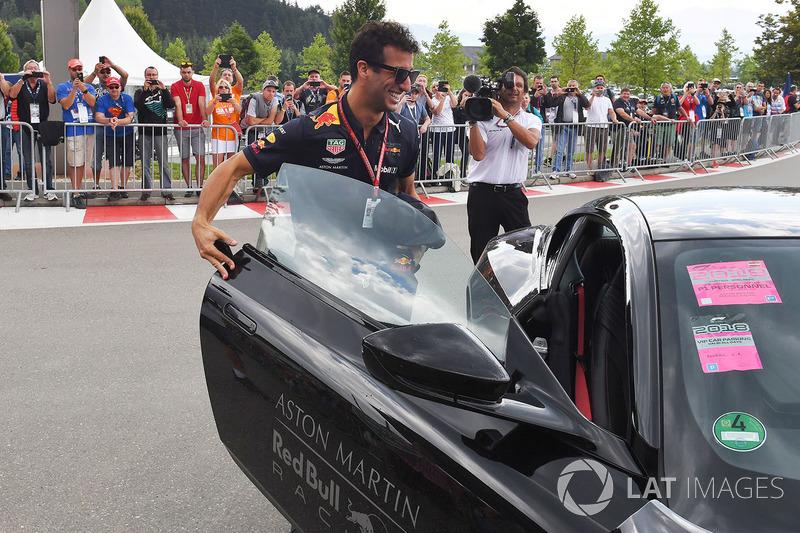 Daniel Ricciardo, Red Bull Racing and Aston Martin DB11