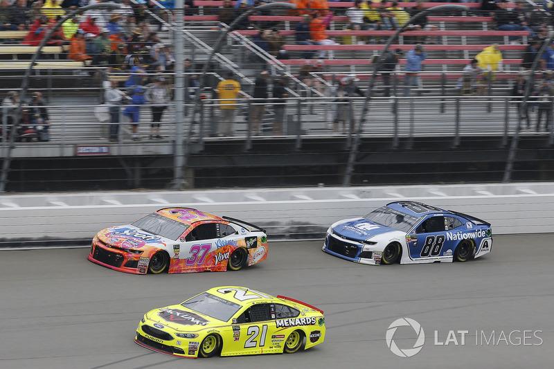 Paul Menard, Wood Brothers Racing, Ford Fusion Menards / Jack Links Chris Buescher, JTG Daugherty Racing