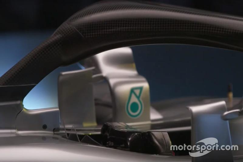 Mercedes AMG F1 W09 halo detay