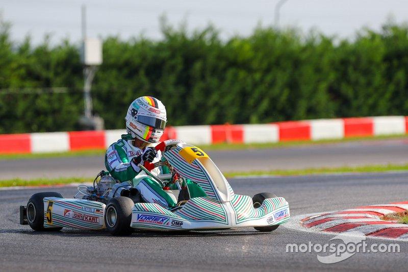 Vettel en essais avec Tony Karts