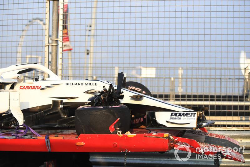 El cliche accidentado de Charles Leclerc, Sauber C37