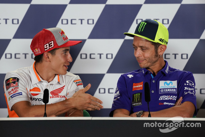 Valentino Rossi, Yamaha Factory Racing, Marc Marquez, Repsol Honda Team during the press conference
