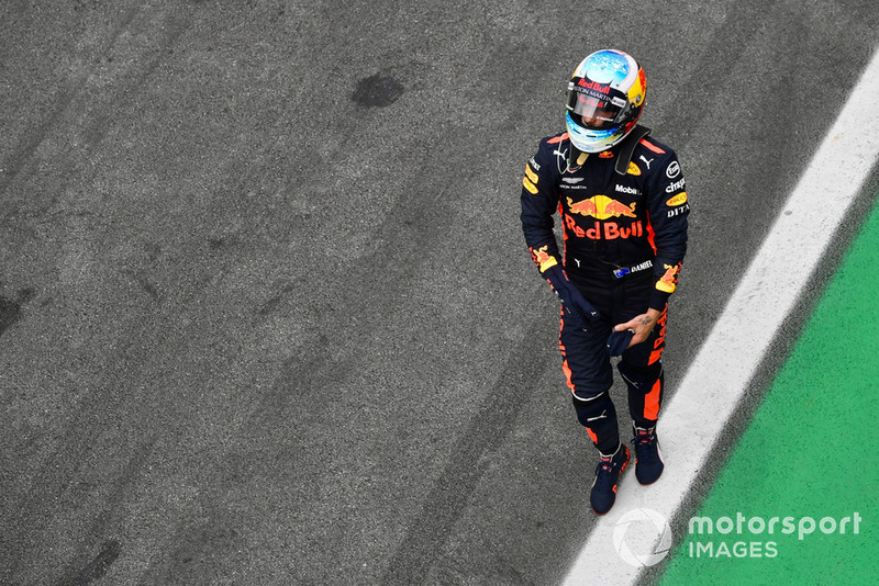 Daniel Ricciardo, Red Bull Racing dans le Parc Fermé