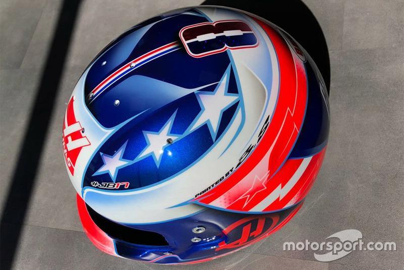 Шлем Ромена Грожана для Гран При США