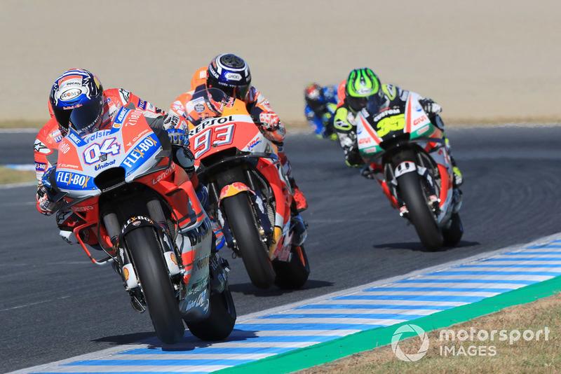 Андреа Довіціозо, Ducati Team, Марк Маркес, Repsol Honda Team, Кел Кратчлоу, Team LCR Honda