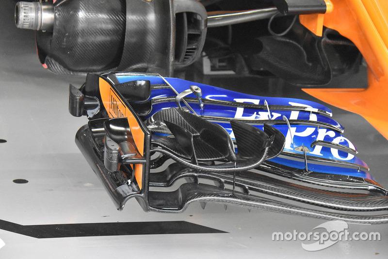 Aileron avant de Stoffel Vandoorne, McLaren MCL33