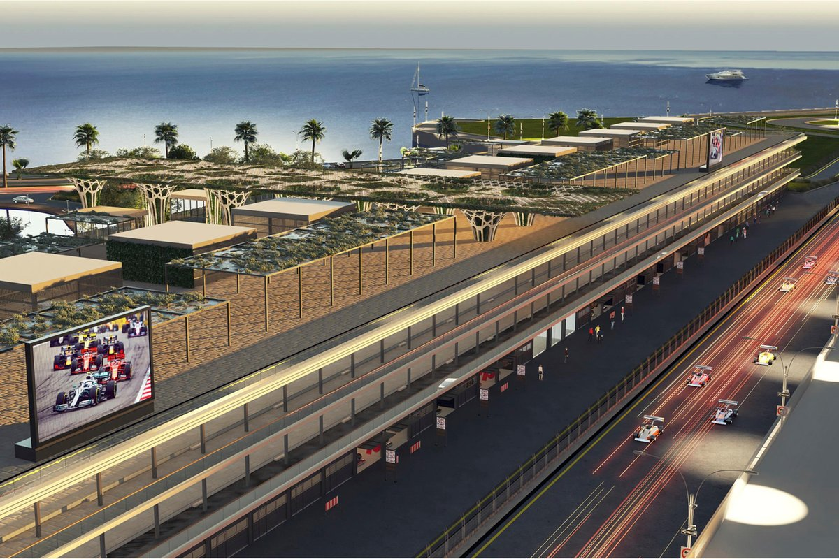 Pitlane building, Saudi Arabian Grand Prix