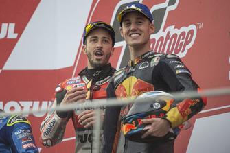 Podio: il vincitore della gara Andrea Dovizioso, Ducati Team, il terzo classificato Pol Espargaro, Red Bull KTM Factory Racing