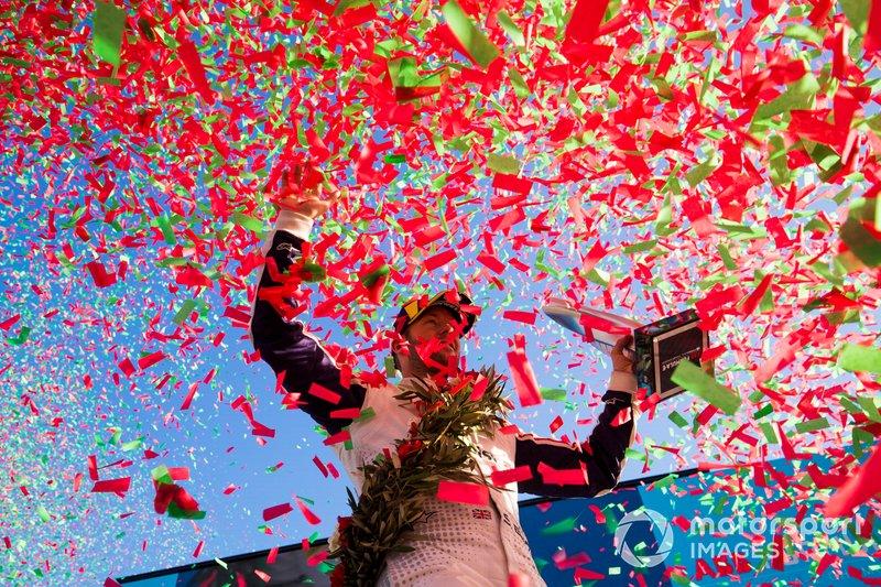 Sam Bird, Envision Virgin Racing celebra su podio