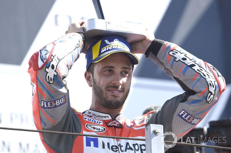 Podium: Pemenang MotoGP San Marino, Andrea Dovizioso, Ducati Team