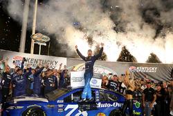 Martin Truex Jr., Furniture Row Racing Toyota Camry, Celebrates in Victory Lane