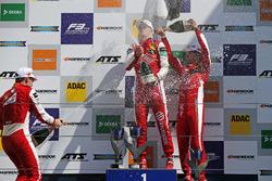 Podium: Race winner Ralf Aron, PREMA Theodore Racing Dallara F317 - Mercedes-Benz, second place Marcus Armstrong, PREMA Theodore Racing Dallara F317 - Mercedes-Benz, third place Guanyu Zhou, PREMA Theodore Racing Dallara F317 - Mercedes-Benz