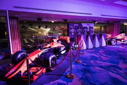 A McLaren Honda and Formula 2 car on display