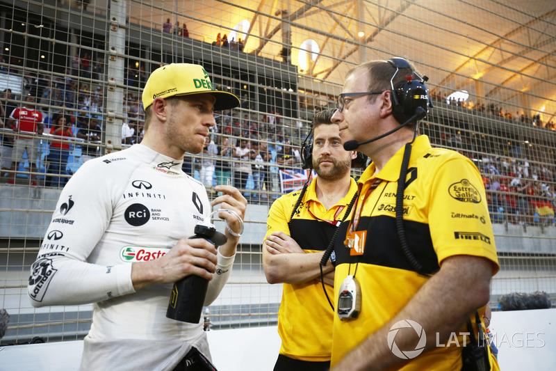 Nico Hulkenberg, Renault Sport F1 Team, on the grid
