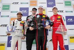 Podium: Race winner Jüri Vips, Motopark Dallara F317 - Volkswagen, second place Enaam Ahmed, Hitech Bullfrog GP Dallara F317 - Mercedes-Benz, third place Marcus Armstrong, PREMA Theodore Racing Dallara F317 - Mercedes-Benz