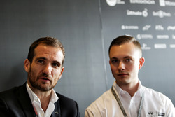 Tommaso Volpe, INFINITI Global Director of Motorsport, and Evan Sloan, INFINITI Academy Award USA Wi