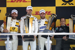 Podium: Race winner Edoardo Mortara, Mercedes-AMG Team HWA, second place Timo Glock, BMW Team RMG, third place Philipp Eng, BMW Team RBM