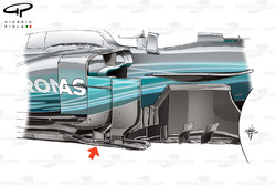 Mercedes W08 bargeboard, United States GP